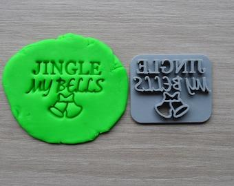 Jingle My Bells Imprint Cookie/Fondant/Soap/Embosser Stamp