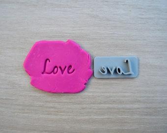 Love Font 3 Imprint Cookie/Fondant/Soap/Embosser Stamp