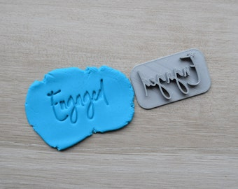 Engaged Font 4 Imprint Cookie/Fondant/Soap/Embosser Stamp