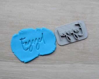 Engaged Font 4 Imprint Cookie/Fondant/Soap/Embosser Stamp