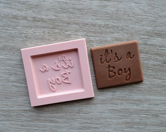 Its A Boy Silicone Mould Chocolate Candy Mould Mold