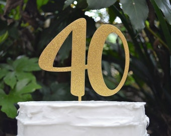 Custom Number Cake Topper 0-99 - Font 2 Birthday Cake Topper - Assorted Colours