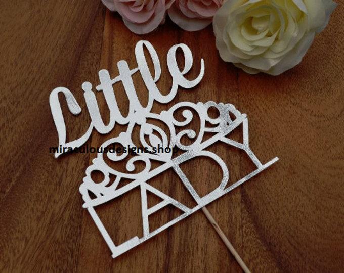 Little Lady Cake Topper - Baby Shower Cake Topper - Baby Girl Cake Topper