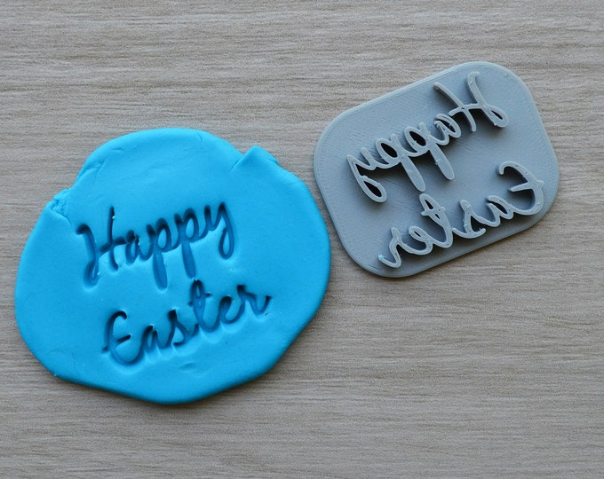 Happy Easter Font 2 Imprint Cookie/Fondant/Soap/Embosser Stamp