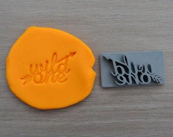 Wild One Arrow 1st Birthday Imprint Cookie/Fondant/Soap/Embosser Stamp