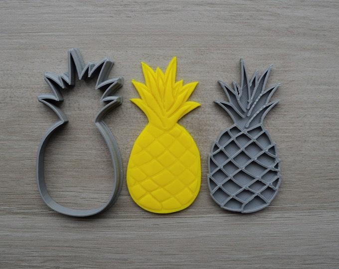 Pineapple Cookie Fondant Cutter & Stamp Fondant