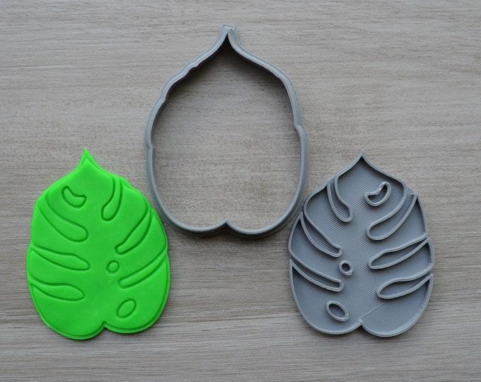 Tropical Leaf Cookie Fondant Cutter & Stamp Fondant