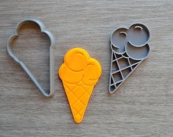 Ice Cream Cookie Fondant Cutter & Stamp Fondant