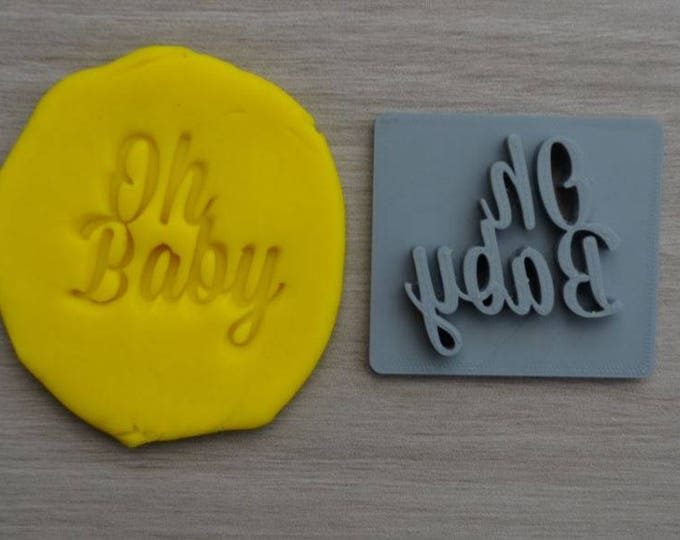 Oh Baby Font 1 Imprint Cookie/Fondant/Soap/Embosser Stamp