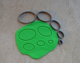 Oval Polymer Clay Cutter Set Cookie Fondant Cutters