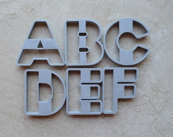Alphabet A-Z Individual Cookie Cutter Fondant Cutter