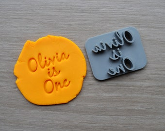 Age One Font 2 Custom/Personalized Name Cookie/Fondant/Soap/Embosser Stamp