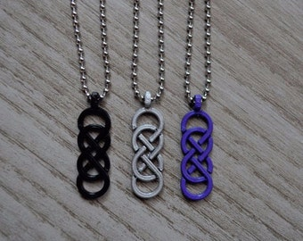 Double Infinity Necklace Pendant - Eternity - Knot