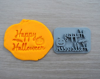 Happy Halloween Imprint Cookie/Fondant/Soap/Embosser Stamp