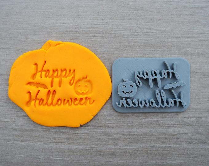 Happy Halloween Imprint Cookie/Fondant/Soap/Embosser Stamp