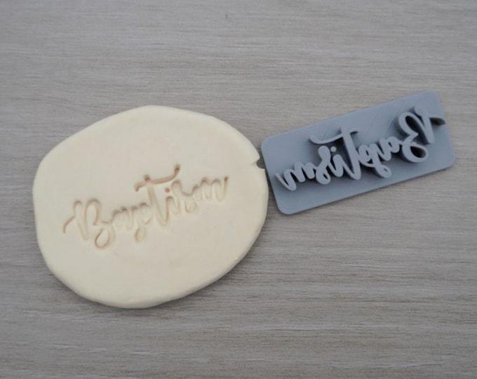 Baptism Font 1 Christening Confirmation Imprint Cookie/Fondant/Soap/Embosser Stamp