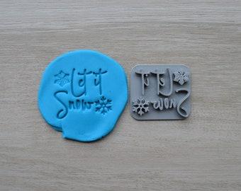 Let It Snow Imprint Cookie/Fondant/Soap/Embosser Stamp