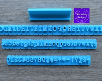 Typewriter Sets - Individual Letters Number Special Characters Cookie Fondant Stamp Embosser