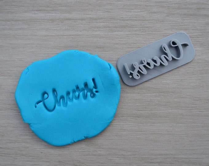 Cheers! Imprint Cookie/Fondant/Soap/Embosser Stamp