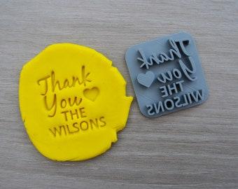 Thank You Love Name Imprint Custom Personalised Cookie/Fondant/Soap/Embosser Stamp
