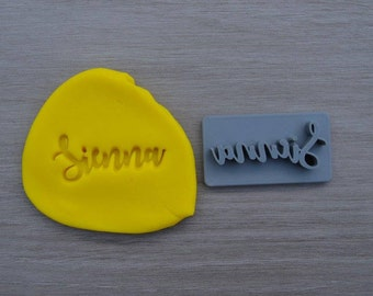 Custom Name Imprint Font 1 Cookie/Fondant/Soap/Embosser Stamp