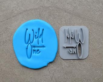 Wild One Arrow 1st Font 3 Birthday Imprint Cookie/Fondant/Soap/Embosser Stamp