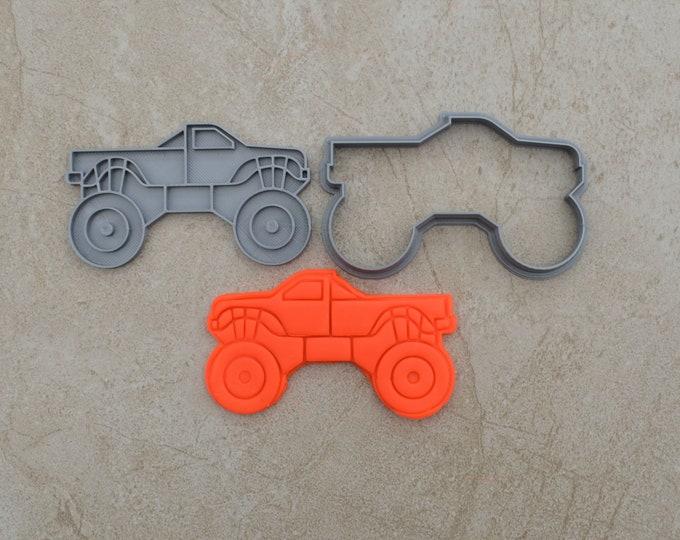 Monster Truck Cookie Fondant Cutter & Stamp Fondant