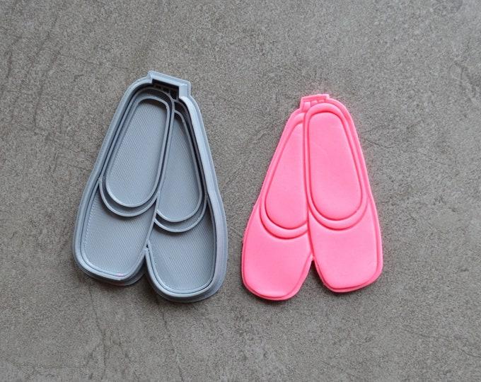 Ballerina Ballet Shoes Cookie Fondant Cutter & Stamp Fondant