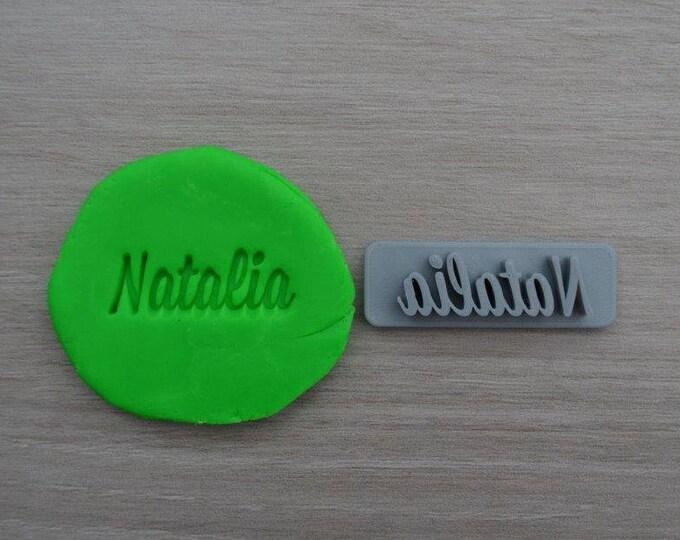 Custom Name Imprint Font 2 Cookie/Fondant/Soap/Embosser Stamp