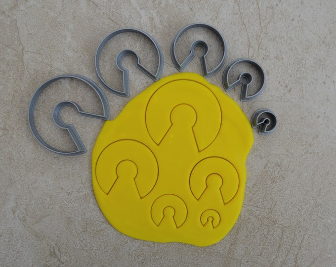 C Shape Polymer Clay Cutter Set Cookie Fondant Cutters