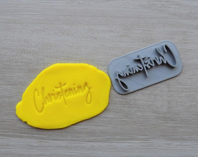 Christening Baptism Confirmation Imprint Cookie/Fondant/Soap/Embosser Stamp