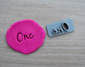 One First Birthday 1st Birthday Imprint Font 2 3.1cm Cookie/Fondant/Soap/Embosser Stamp