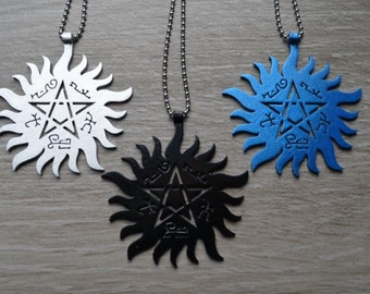 Protection Tattoo & Devil's Trap - Necklace Pendant  - Pentacle