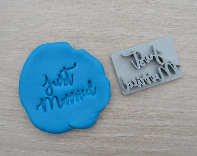 Just Married Imprint Cookie/Fondant/Soap/Embosser Stamp