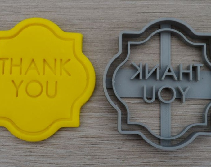 Label/Plaque Cookie Cutter Fondant Cutter Custom/Personalised Party Favor Cake Topper
