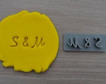 Custom Initials Imprint Cookie/Fondant/Soap/Embosser Stamp