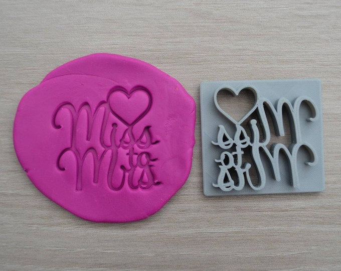 Miss to Mrs Imprint Font 1 Cookie/Fondant/Soap/Embosser Stamp