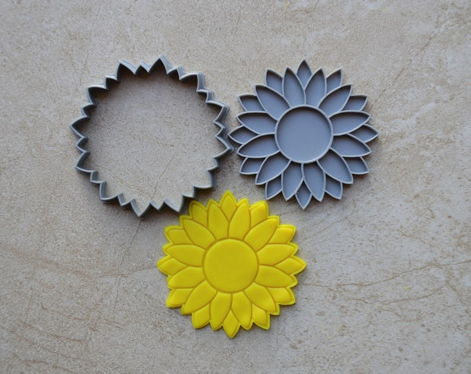 Sunflower Cookie Fondant Cutter & Stamp Fondant