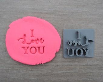 I Love You Imprint Cookie/Fondant/Soap/Embosser Stamp