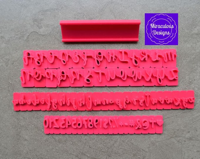 Script Sets Size 2 Font 2 - Individual Letters Number Special Characters Cookie Fondant Stamp Embosser