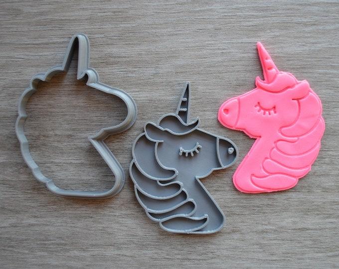 Unicorn Face Cookie Fondant Cutter & Stamp Fondant