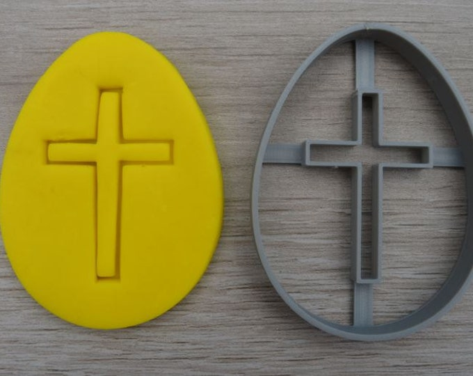 Easter Egg Cross Cookie Cutter Fondant Cutter