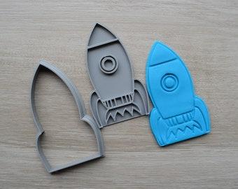 Rocket Cookie Fondant Cutter & Stamp Fondant