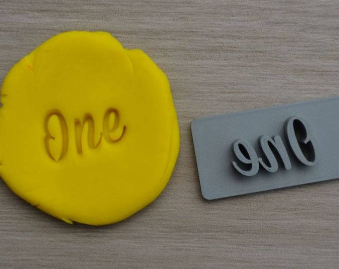One First Birthday 1st Birthday Font 1 Imprint Cookie/Fondant/Soap/Embosser Stamp
