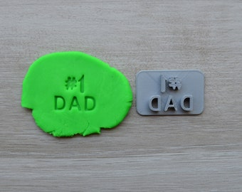 Number 1 Dad Imprint Cookie/Fondant/Soap/Embosser Stamp