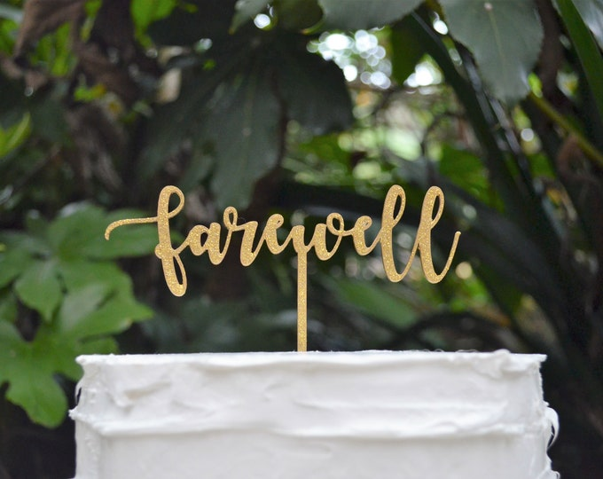 Farewell Cake Topper - Assorted Colours
