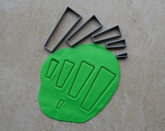 Stiletto Rectangle Polymer Clay Cutter Set Cookie Fondant Cutters