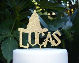 Name Cake Topper - Wizard Hat Custom Personalized Cake Topper