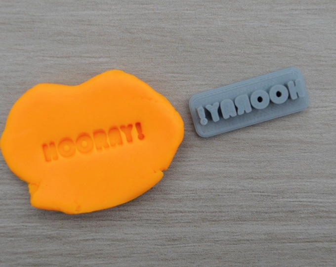 Hooray! Imprint 3cm Cookie/Fondant/Soap/Embosser Stamp