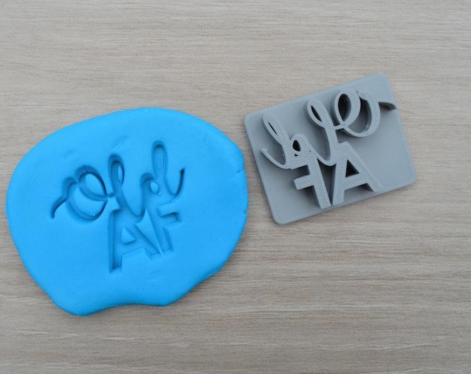 Old AF Imprint Cookie/Fondant/Soap/Embosser Stamp